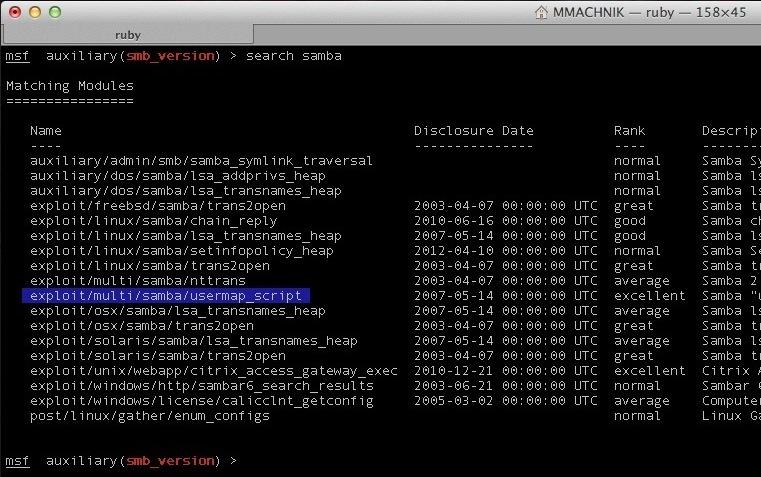 Metasploit SMB – Exploitation of Port 445 | MACHN1k